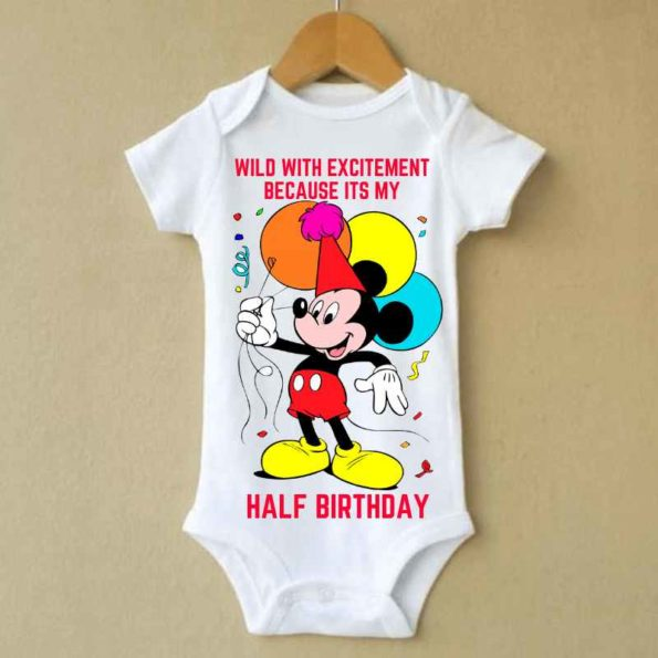 Micky Mouse Baby Rompers   knitroot