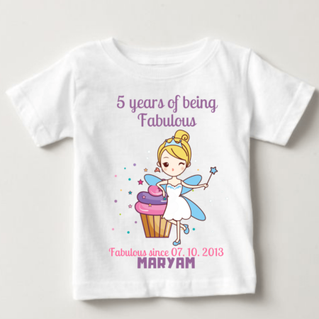 5 Years Of Being Fabulous Baby kids T-shirts | knitroot