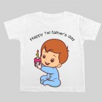 Happy 1st Father Day Kid T-shirt   Knitroot