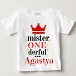 first-birthday-T-shirt-Mister one derful   Knitroot