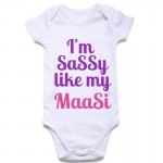 I'm Sassy Like My Maasi Baby Onesie