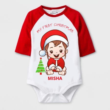 My first Xmas | baby in santa costume design | knitroot