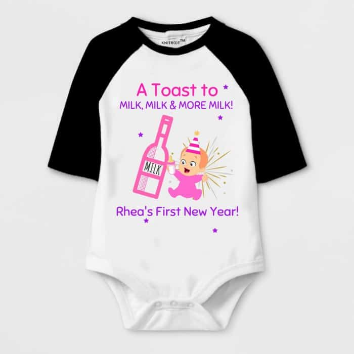 1st Baby New Year My First New Year New Year Baby Outfit Knitroot