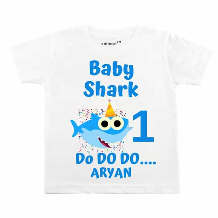 daddy /& children/'s personalised shark baby vests /& T-shirts mummy