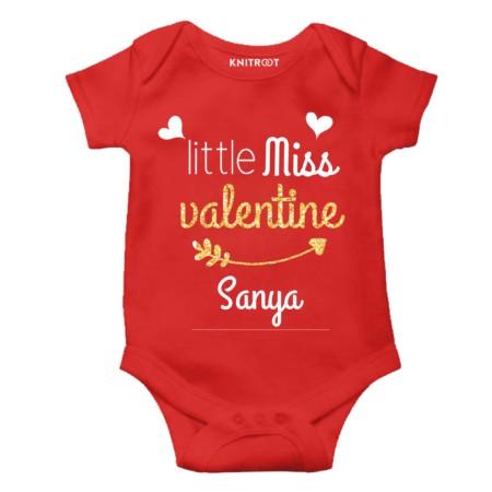 valentine's day onesie baby girl