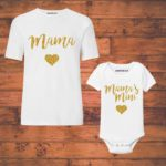 mom and baby girl combo onesie and t shirt