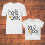 mom and son combo tees stated baby bear
