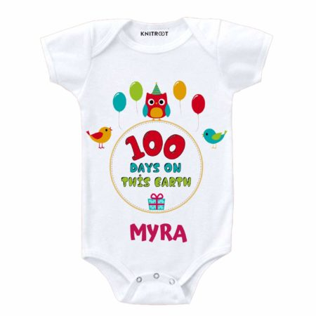 100 Day Old Baby Party Onesies