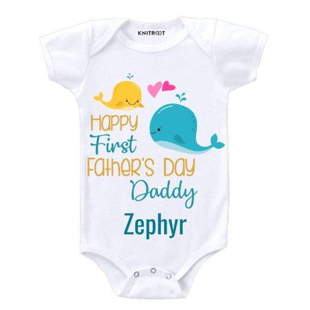 first fathers day romper