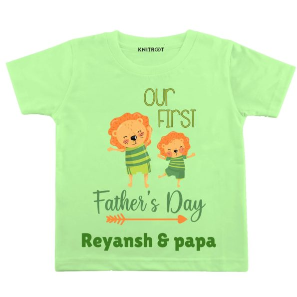 our first father day baby and papa tshirt