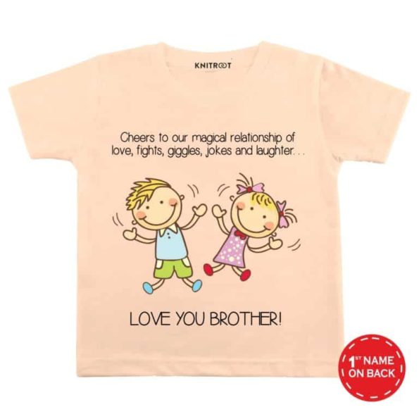 Love-you-brother-peach-color-customize-T-shirts-For-Kids