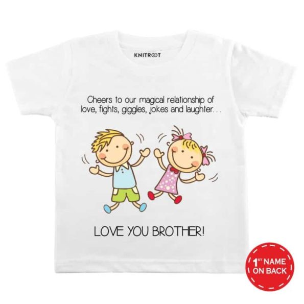 Love-your-brother-white-color-customize-T-shirts-For-Kids