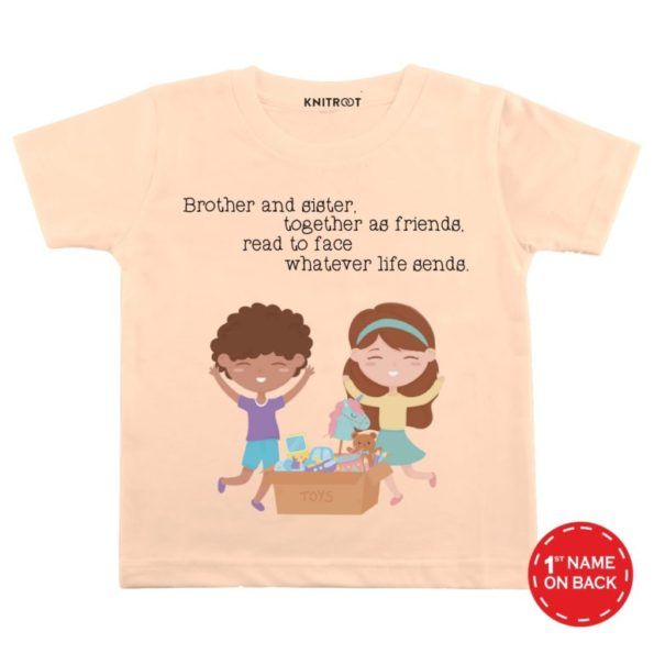 brother-and-friends-peach-color-customize-T-shirts-For-Kids