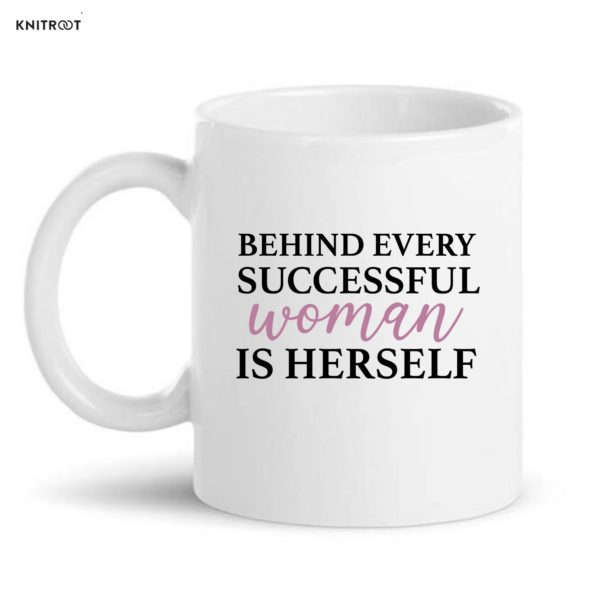 women in herself coffe mugs