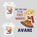 Can't Keep Calm It's My First Navratri Girl Baby Wear