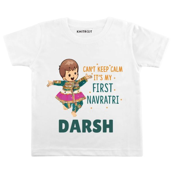 Can't Keep Calm It's My First Navratri T-shirt