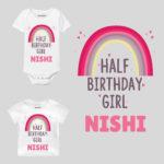 Half Birthday Girl Baby Clothes
