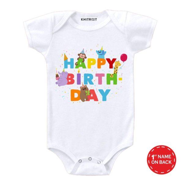 Happy Birthday Party Design Onesie