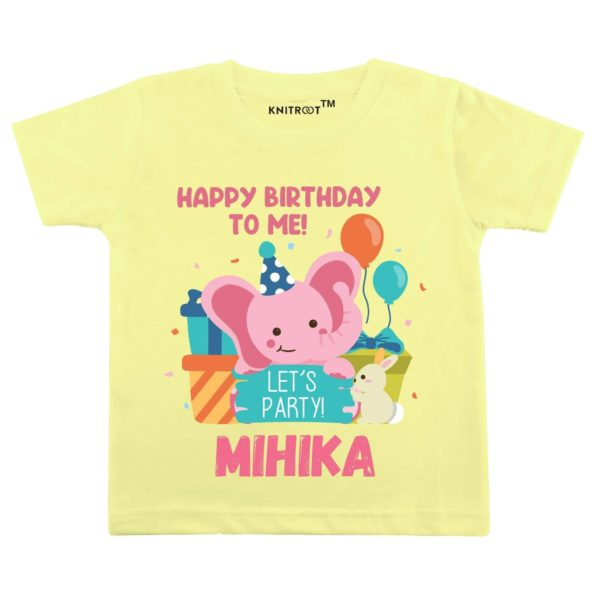 Happy Birthday To Me! Let's Party! T-Shirt (Yellow)