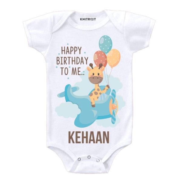 Happy Birthday To Me… Giraffe Design Onesie