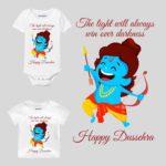 Happy Dussehra Light Always Win Baby Wear