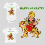 Happy Navratri Festival Design Baby Wear