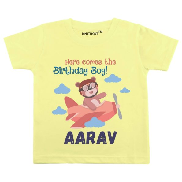 Here Come the Birthday boy T-Shirt (Yellow)