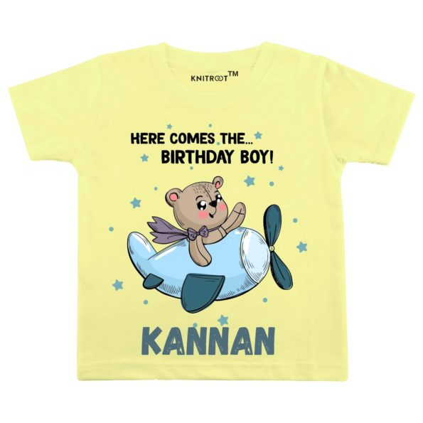 Here Comes The… Birthday Boy! T-Shirt (Yellow)