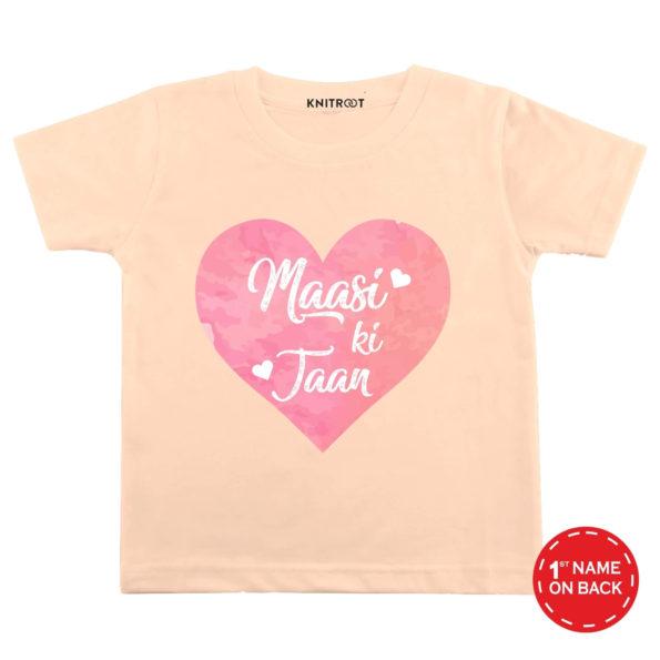 Maasi Ki Jaan Tshirt (Peach)