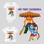 My First Dussehra Design Baby Wear