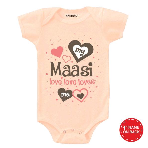 My Maasi Love Love Loves Me Onesie (Peach)