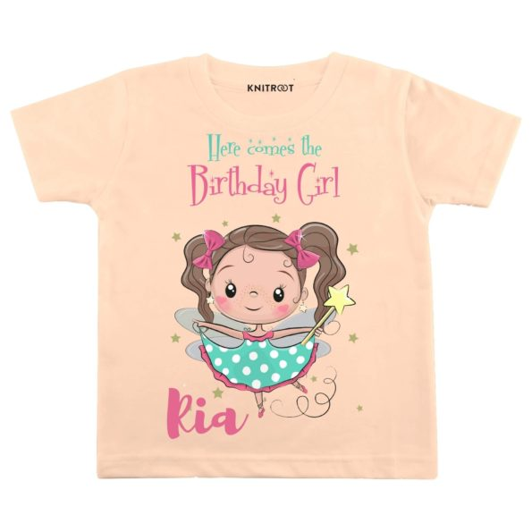 Here Comes The Birthday Girl 2 T-shirt (Peach)