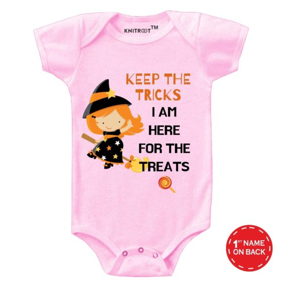 I Am Here For The Treats Onesie (Pink)