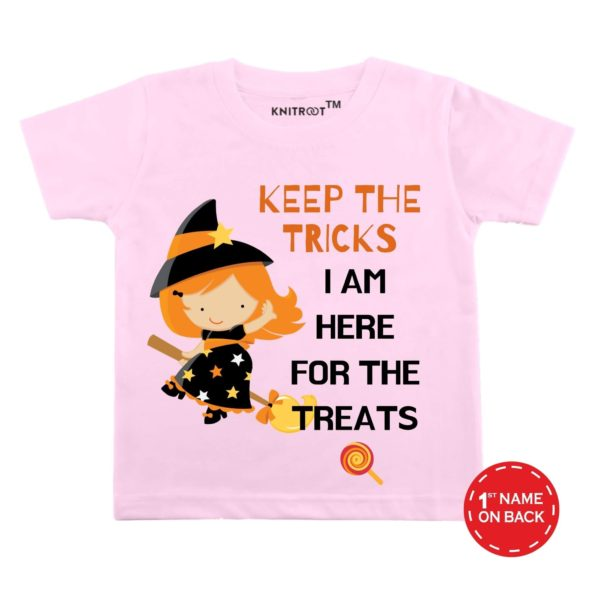 I Am Here For The Treats T-shirt (Peach)