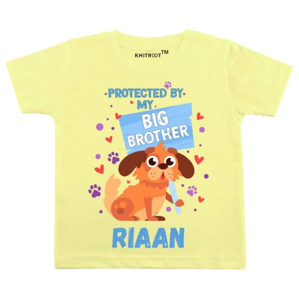 Protected By My Big Brother T-shirt (Yellow)