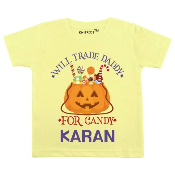 Will Trade Daddy For Candy T-shirt (Yellow)