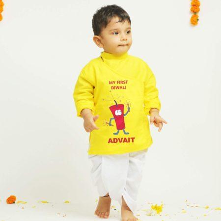 yellow dhoti kurta