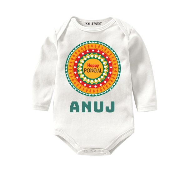 Happy pongal white baby wear
