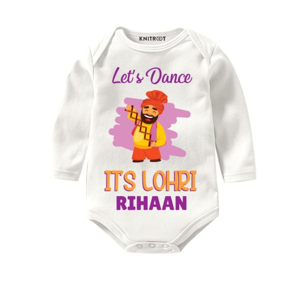 Lets dance its lohri baby outfit