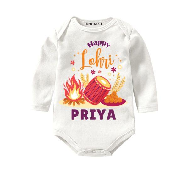 Lohri baby onesie
