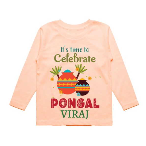 Time to celebrate pongal in peach color