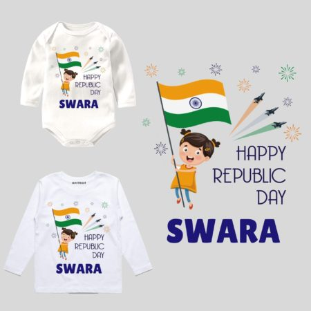 Happy Republic Day Outfit Baby Girl