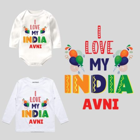 I Love My India Stated Wear