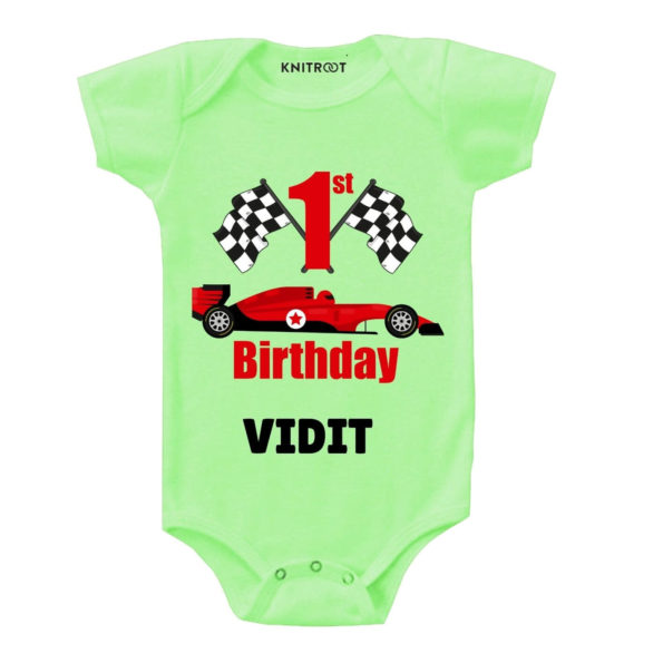 1st Birthday-Car Toddler Outfit