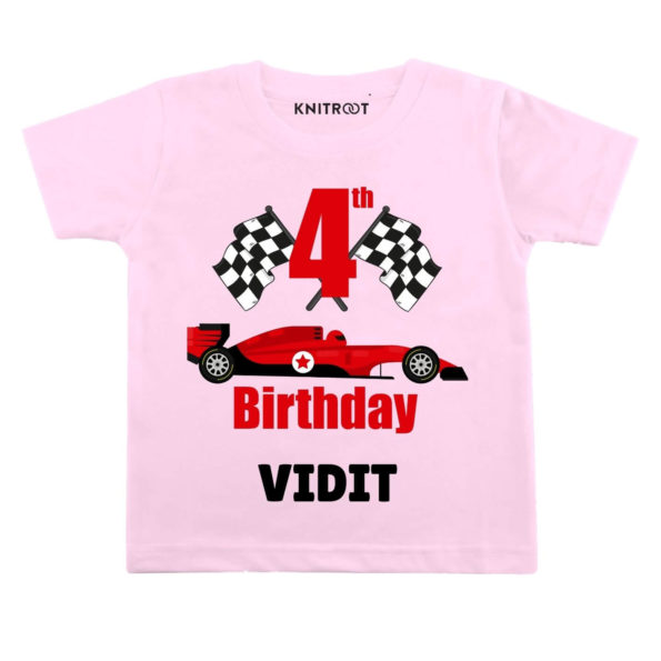 4th Birthday-Car Toddler Outfit