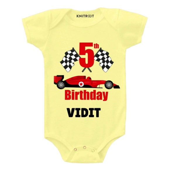 5th Birthday-Car Personalized Outfit