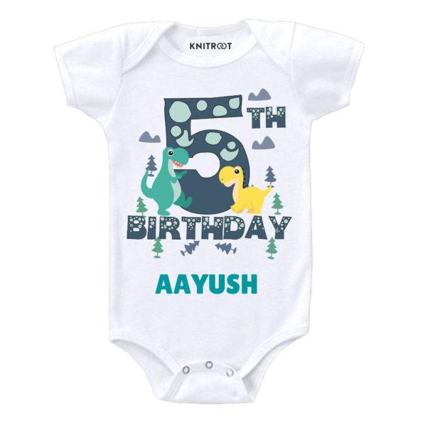 5th Birthday-dino Toddler wear