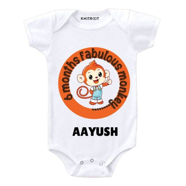 6 Months Monkey Baby Clothes