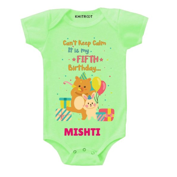 Calm it's fifth birthday Toddler wear