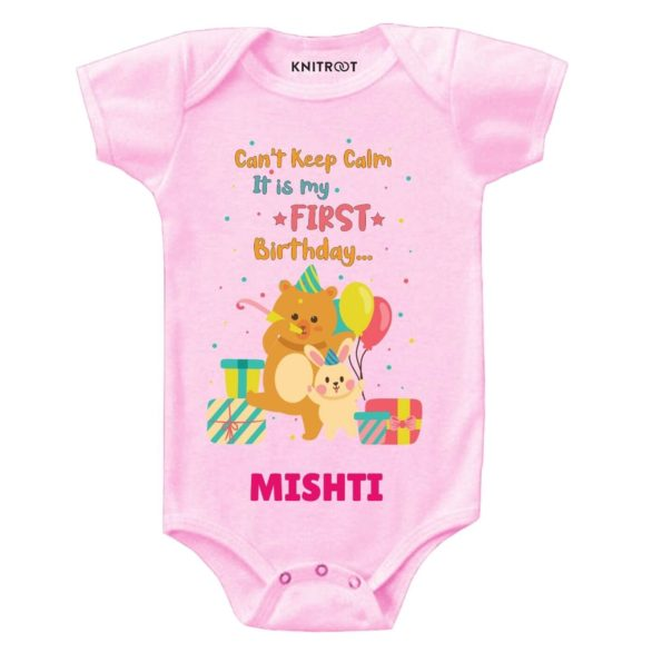Calm it's first birthday Toddler outfit